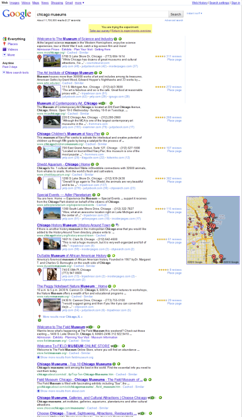 New Place Search layout