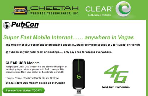Clear USB modem