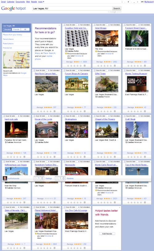A new layout for Google Places