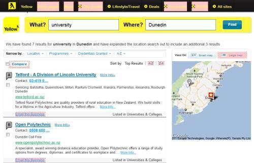 University near Dunedin