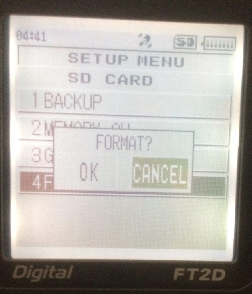 Format card